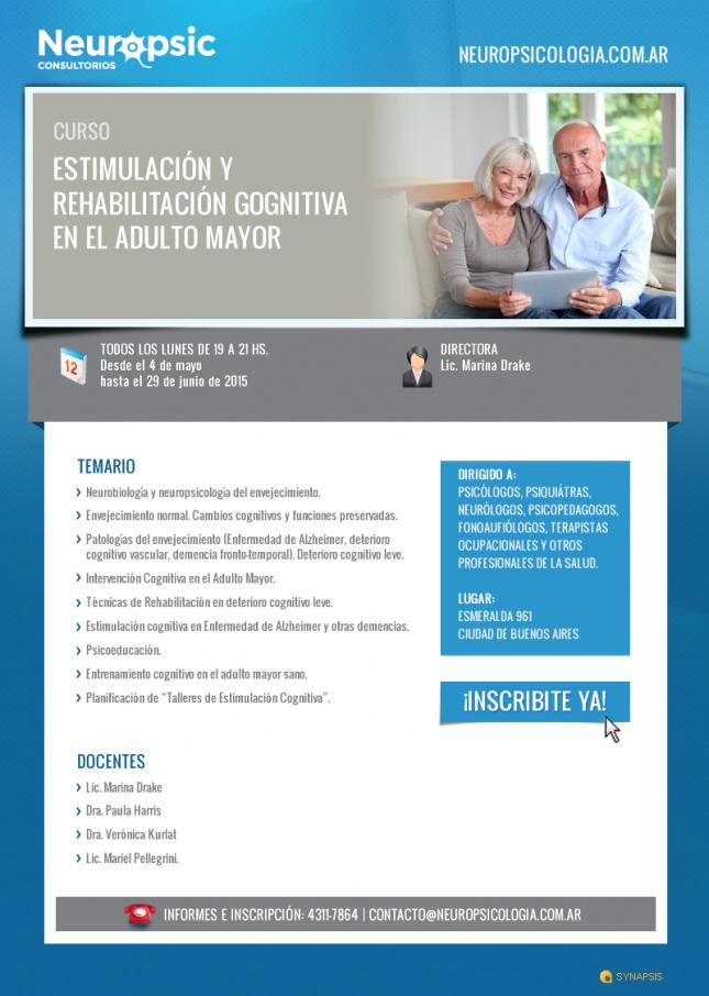 Curso Estimulación y Rehabilitación Cognitiva en el Adulto Mayor
